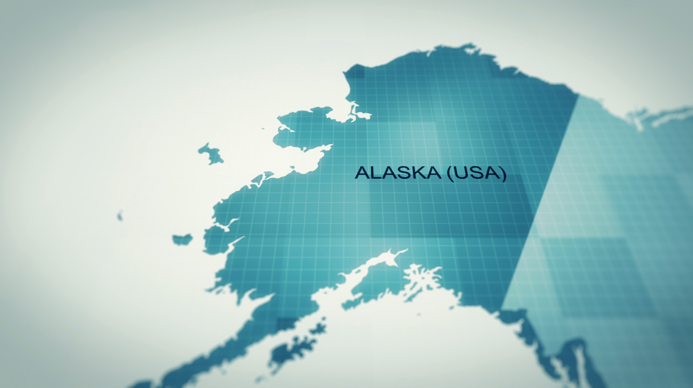 Futuristic, World map, Alaska -Us